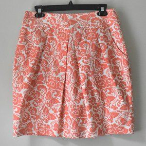 Anthropologie Odille Butterfly Floral Skirt